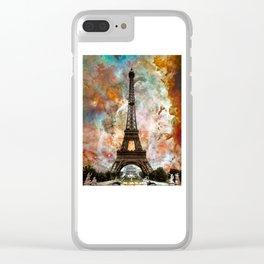 The Eiffel Tower - Paris France Art By Sharon Cummings Clear iPhone Case