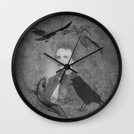 The Raven - E.A. Poe Wall Clock