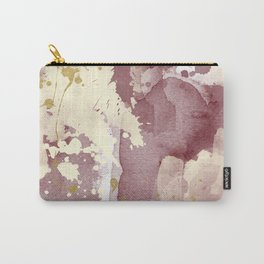 Burgundy abstract painting Carry-All Pouch