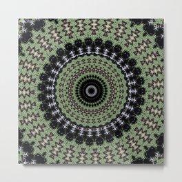 Sage Green Mandala Metal Print