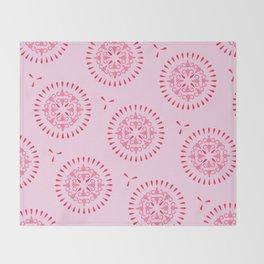 Uteri, Period. In pink Throw Blanket