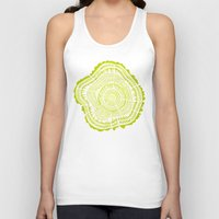 tree rings Tank Tops featuring Lime Tree Rings by Cat Coquillette