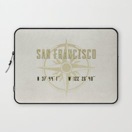San Francisco - Vintage Map and Location Laptop Sleeve