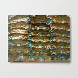 For the Love of Crabs Metal Print