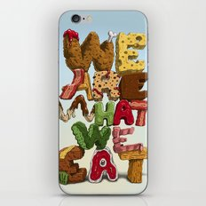 We are what we eat iPhone & iPod Skin