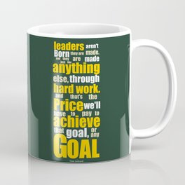 Lab No. 4 - Vince Lombardi Sport Inspirational Quotes Typography Poster Coffee Mug