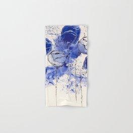 Blue and White Splotch Flowers Hand & Bath Towel