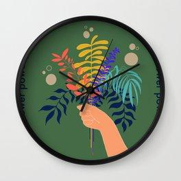 Vintage Flower Wall Clock