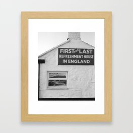 first and last Framed Art Print
