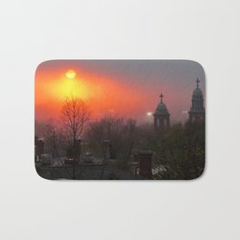 Foggy Portland Sunset (5) Bath Mat