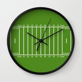 Football Field design Wall Clock