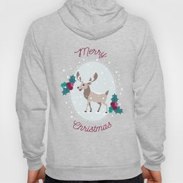 Merry Christmas - Moose and snow Hoody