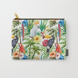 Exotic Birds pattern Carry-All Pouch