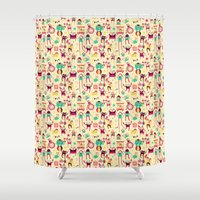 misfits Shower Curtains featuring Freak Show by kukubee