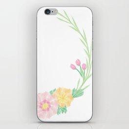 Watercolour Wreath iPhone Skin
