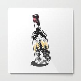 Adventure bottle Metal Print