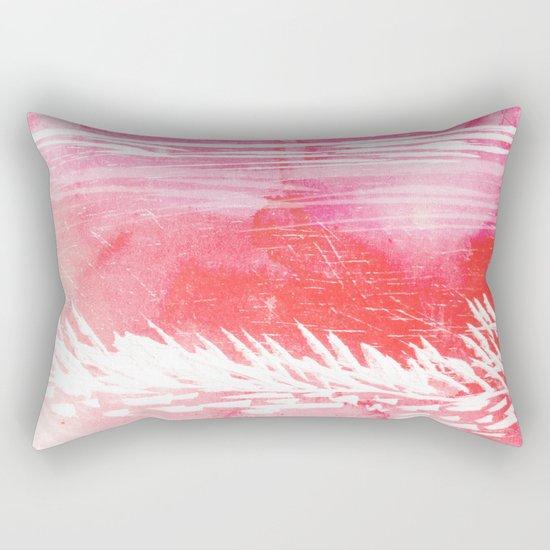 Pink Landscape Rectangular Pillow