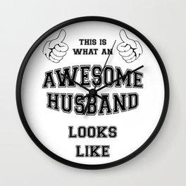AWESOME HUSBAND Wall Clock