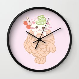 TAIYAKI AND THE KITTY CUTE ICE CREAM Wall Clock