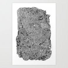 b/w pattern Art Print