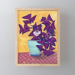 Purple Shamrock Houseplant Painting Framed Mini Art Print