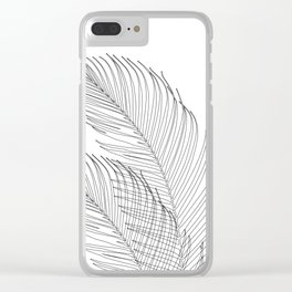 Palm Leaves Finesse Line Art #1 #minimal #decor #art #society6 Clear iPhone Case