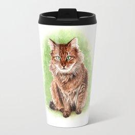 Somali cat portrait Travel Mug