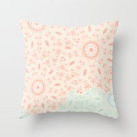 lace Throw Pillows featuring Lace by LindsayMichelle