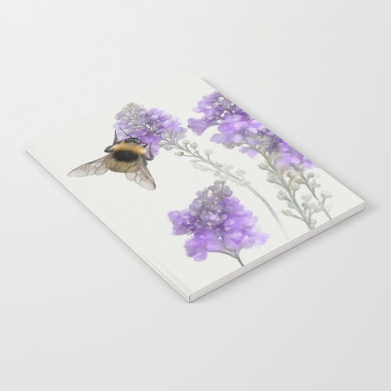 Watercolor Bumble Bee Notebook
