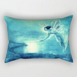 Spirit of the Night by John Atkinson Grimshaw Turquoise Blue Rectangular Pillow