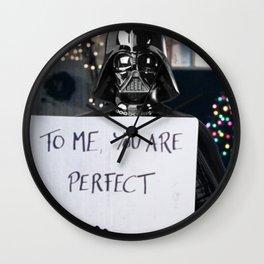 Darth Vader in Love Actually Wall Clock