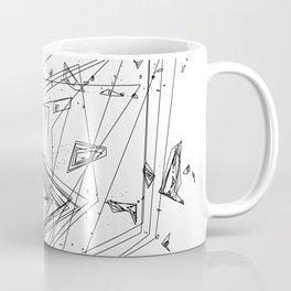 Mountain Vertices, Mt. Rainier, Black Geometric Coffee Mug
