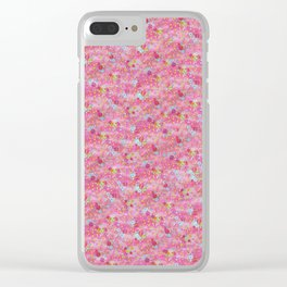 Chirimen Floral Pink Clear iPhone Case