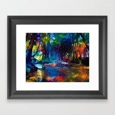 Cours d'eau Framed Art Print