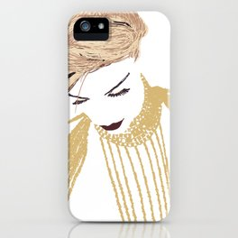 Her eyes were low iPhone Case