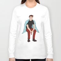 dean winchester Long Sleeve T-shirts featuring Winter Dean Winchester by HarvestMoon