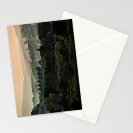 Foggy morning in Lake District Stationery Cards