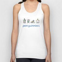penguins Tank Tops featuring Penguins by Anna Art Shoppe
