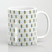 mod Mugs featuring Honey Bee by Cat Coquillette