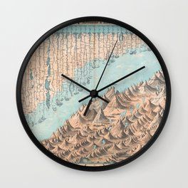 Chart of the World's Mountains and Rivers - Geographicus Wall Clock