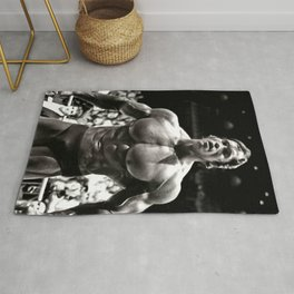 Arnold Schwarzenegger Bodybuilding Poster Canvas Wall Art Home Decor, No Frame Rug
