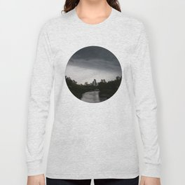Storm clouds over Calgary and the Stampede grounds Long Sleeve T-shirt