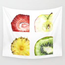 Fruit Squares Wall Tapestry
