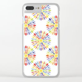 Kitchen cutlery rainbow Clear iPhone Case