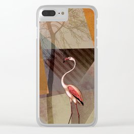 FLAMINGOS P23-C Clear iPhone Case
