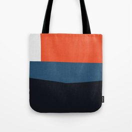 Blue and red composition XIX Tote Bag