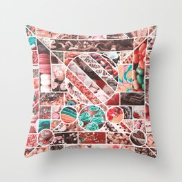 Sweet Treats Collage Throw Pillow