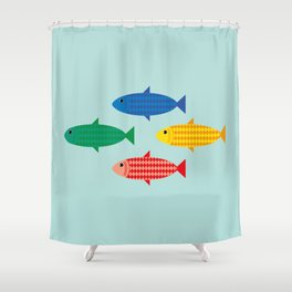 All scaled up Shower Curtain