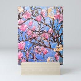 PINK MAGNOLIA - Original floral painting by HSIN LIN / HSIN LIN ART Mini Art Print