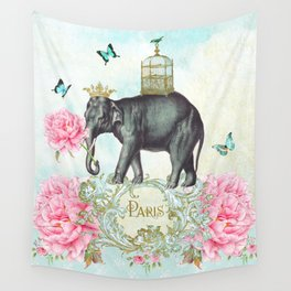 Paris Elephant Wall Tapestry